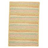 Color Craze Braided Area Rug (5'x7') - Yellow - Indoor & Outdoor Rugs - Sweet Home Collection - Bedroom & Living room Decor - Perfect in any area of the house - 30 Day Limited Manufacturer Warranty.
