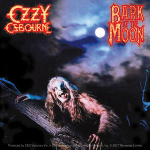 Licenses Products Ozzy Bark at The Moon Sticker