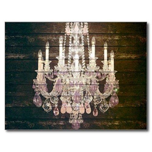 OliyneCo Barnwood Vintage, colore: viola-Lampadario, modello Paris Fashion in gomma anti-scivolo, per ingresso vie per interni ed esterni, dotato-Tappeto, 60 x 40 cm