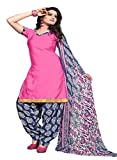 ZHot Fashion Women's Printed Unstitched Salwar Suit Material In Cotton Fabric (ZHSN1009) Pink