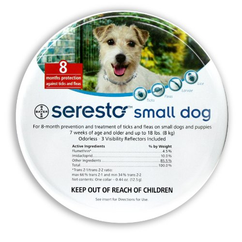 Bayer Seresto Flea and Tick Collar for Pet, Small