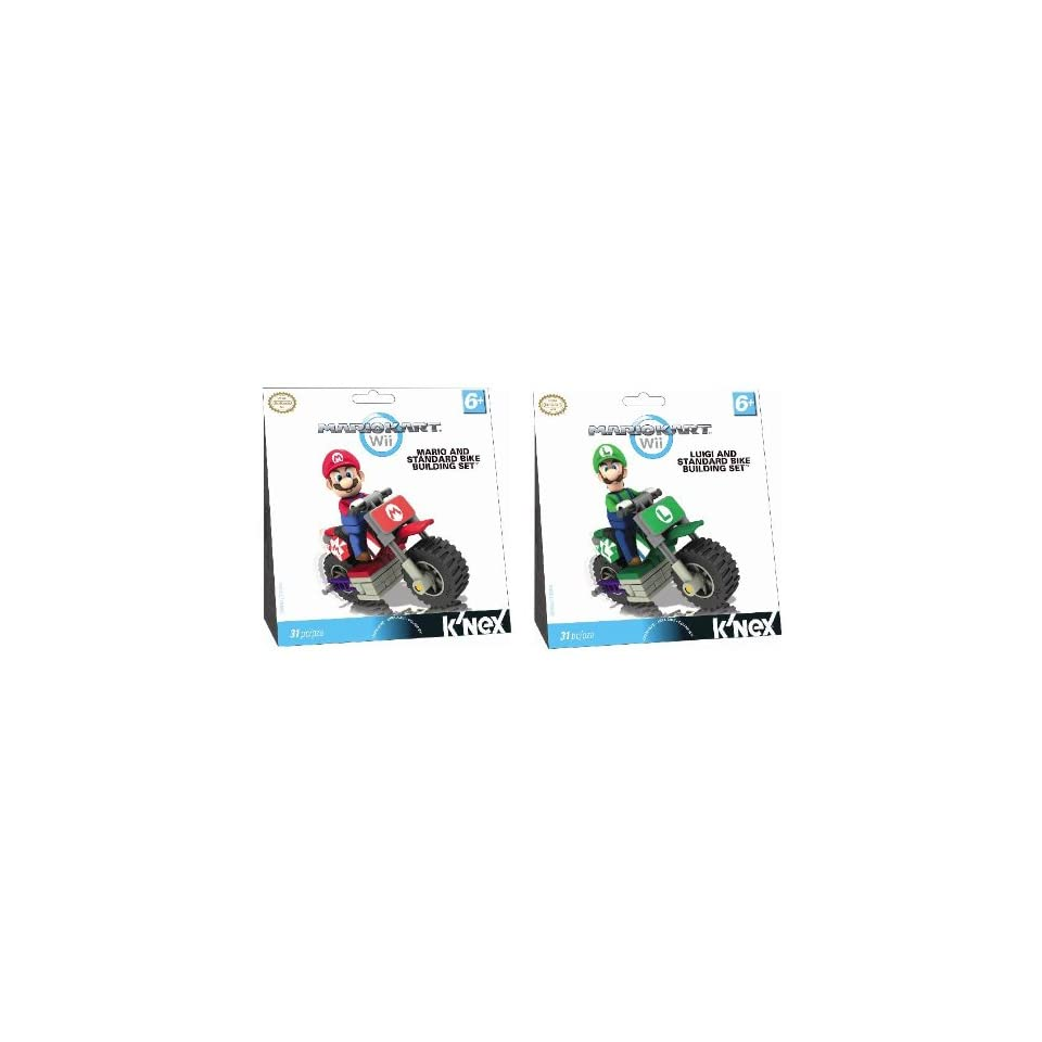 Nintendo Super Mario & Luigi Knex Mario Kart Standard Bike Building Set of 62 Pcs. Knex