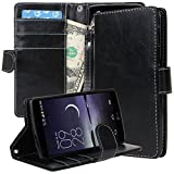 LG G Flex 2 Case, LG G Flex 2 Flip Case, E LV LG G Flex 2 Case Cover - Deluxe PU Leather Flip Wallet Case Cover...