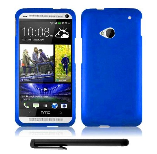 #1  HTC One (M7) Snap-On Protector Hard Cover Case + Bonus Long Arch 5.5