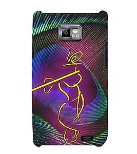 Lord Sri Krishna 3D Hard Polycarbonate Designer Back Case Cover for Samsung Galaxy S2 :: Samsung Galaxy S2 i9100