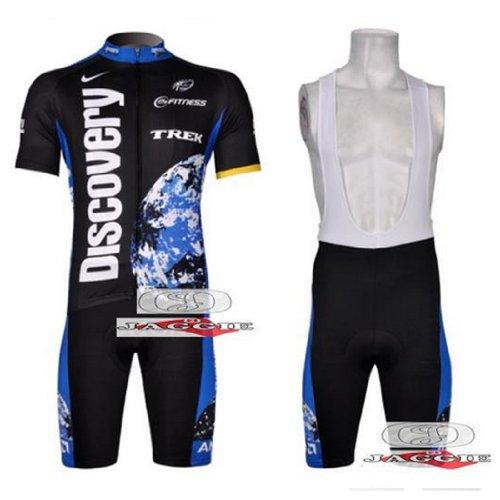 Discovery team Short Sleeve Cycling Jerseys Wear Clothes Bicycle/ Bike/ Riding Jerseys + Bib Pants Shorts Size XL