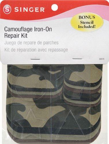 Singer Camouflage Iron-On Repair Kit
