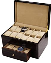 Auer Accessories Urania 920E Watch Box for 20 Watches Ebony