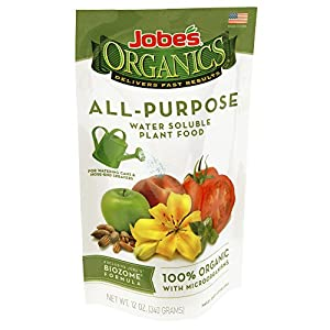 Easy Gardener Jobes 08250 Organics Water Soluble All Purpose Fertilizer, 12 Ounces (Discontinued by Manufacturer)