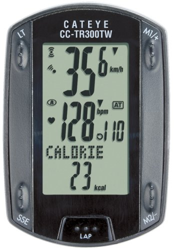 Cateye CC-TR300TW Triple Wireless Cadence and Heart Rate Bicycle Computer