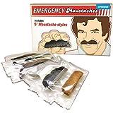 Notfall Schnurrbart Bärte - falschen Bärte Anklebebärte Emergency im 6er Set