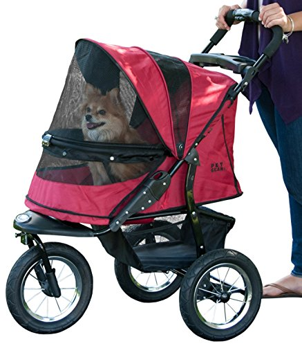Pet Gear Jogger No-Zip Pet Stroller, Rugged Red