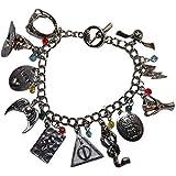Harry Potter Movie Series (11 Themed Charms) Silvertone Charm Bracelet