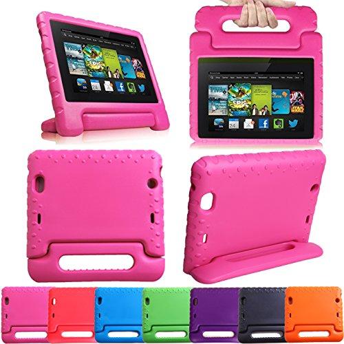 Hde Kids Shock Proof Foam Handle Case Stand For Kindle Fire Hdx 8.9 (2013 Models) - Pink front-1034170