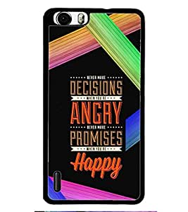 PRINTSWAG QUOTE Designer Back Cover Case for HUAWEI HONOR 6