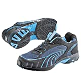 Puma Safety Shoes Fuse Motion Blue Wns Low S1 HRO, Puma 642820-256 Damen Espadrille Halbschuhe, Schwarz (schwarz/blau 256), EU 39