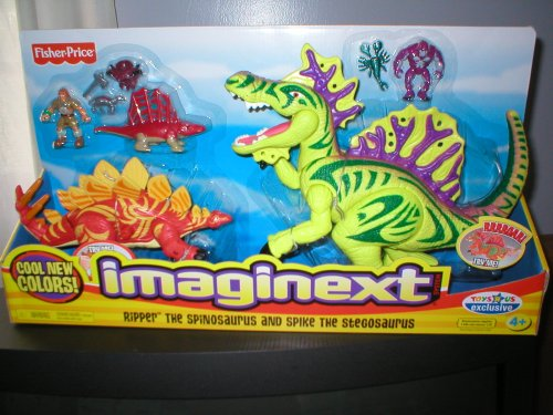 Imaginext Exclusive Figure Set Ripper The Spinosaurus and Spike The Stegosaurus