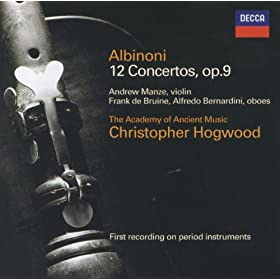 Tomaso Albinoni: Concerto a 5 in D, Op.9, No.12 for 2 Oboes, Strings,and Continuo - 2. Adagio