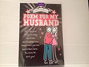 ... POEM - HUSBAND BIRTHDAY GREETING CARD: Amazon.co.uk: Kitchen & Home