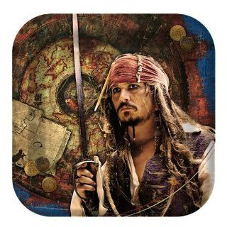 Pirates of the Caribbean 4 - Shaped Dessert Plates Party Accessory