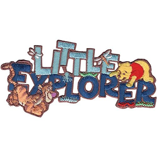 Wrights Disney Winnie The Pooh Little Explorer Iron-On Applique front-369601