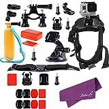 Sales La(R) for GoPro Hero 4 3+ 3 2 Dog Harness Floaty Suction Roll bar Helmet Mount