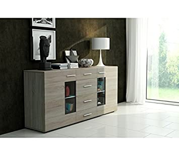 Tango 1 Cabinet - 4 Options - Modern Design - 4 Pieces - High Quality (Sonoma Oak)