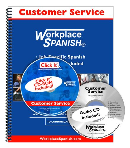 Spanish for Customer Service - Learning Kit w/audio CD & Click It CD-ROM by Workplace Spanish (R)