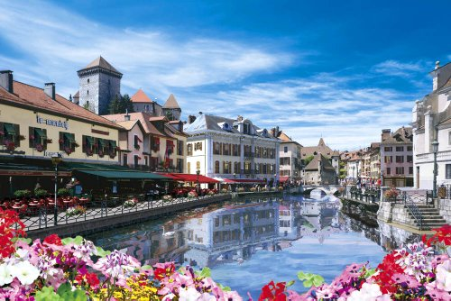 Annecy-capital-of-water-beautiful-super-master-EX-test-of-gold-puzzle-2542-super-small-piece-France-76-606-japan-import-by-Epoch