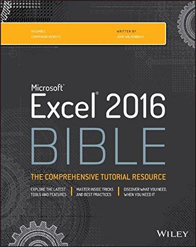 Download Excel 2016 Bible