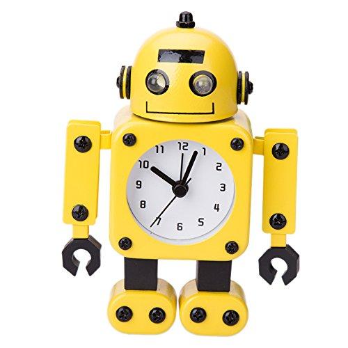 Robot Horloge Movable chevet alarme horloge analogique yeux šŠtincelants Et Son B