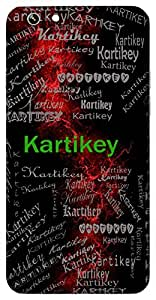 Kartikey (Brother Of Lord Ganesha) Name & Sign Printed All over customize & Personalized!! Protective back cover for your Smart Phone : Samsung Galaxy Note-4