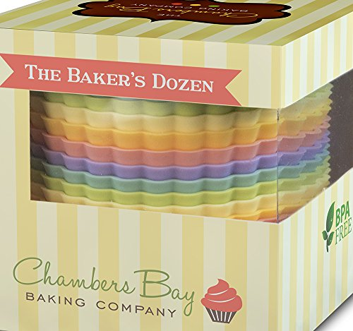 Premium Jumbo Reusable Nonstick Silicone Muffin Liners / Baking Cups - No BPA (Large Muffin Pan Liners compare prices)