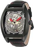 Akribos XXIV Men's AKR454RD Premier Skelton Automatic Tourneau Shaped Watch