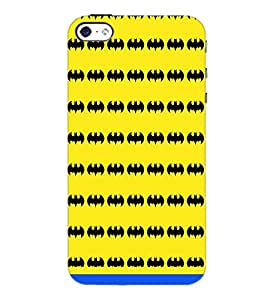 PrintDhaba Bat Pattern D-1463 Back Case Cover for APPLE IPHONE 4 (Multi-Coloured)