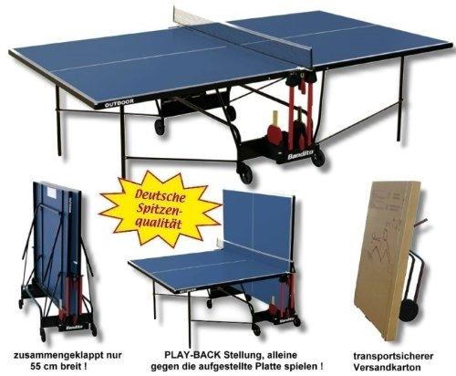 """Tischtennisplatte """"Outdoor"""",wetterfest, original Turniermaße, TÜV geprüft, unempfindlich gegen Feuchtigkeit und resistent gegen heiße Temperaturen und Sonneneinstrahlung. bestellen"""