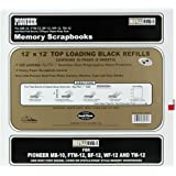 Pioneer Postbound Top Loading Page Protectors, 5-Pack, 12-Inch-by-12-Inch with Black Inserts