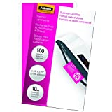 Fellowes Laminating Pouches, Thermal, Business Card Size, 10 Mil, 100 Pack (52058)