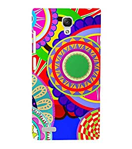 Animated Royal Pattern with lot of Circle 3D Hard Polycarbonate Designer Back Case Cover for Xiaomi Redmi Note :: Xiaomi Redmi Note 4G