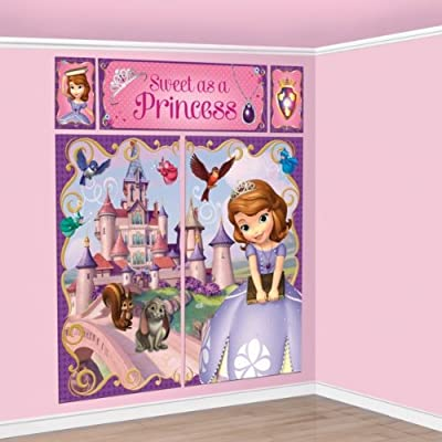 Sofia the First Scene Setter Princess Wall Mural Decoration Girls Birthday Party