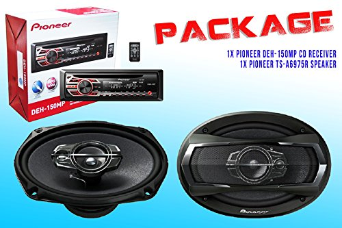 Package ! Pioneer Deh-150Mp Cd-Receiver + Pioneer Ts-A6975R Car Speakers