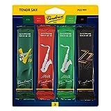 Vandoren SRMIXT3 Tenor Sax Jazz Reed Mix Card includes 1 each ZZ, V16, JAVA and JAVA Red Strength 3