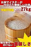 埼玉県産 白米 無洗米 30kg (精米後 27kg) お米マイスター (未検査米) 平成27年産