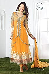 New Arrival Net With Designer Yellow Color With Embroidery And Stone Laces Work Salwar Suit Dress Semi Stitched Collection By Regalia Fashion