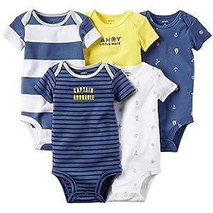 Newborn & Infant Boy's 5-Pack Bodysuits - Sailing