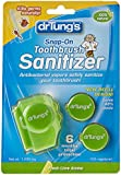 Dr. Tung's Snap on Toothbrush Sanitizer, Flavor/colors Vary 2 Refills Included