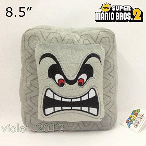 ew-super-mario-bros-thwomp-cinder-block-plush-soft-toy-stuffed-animal-85-nwt