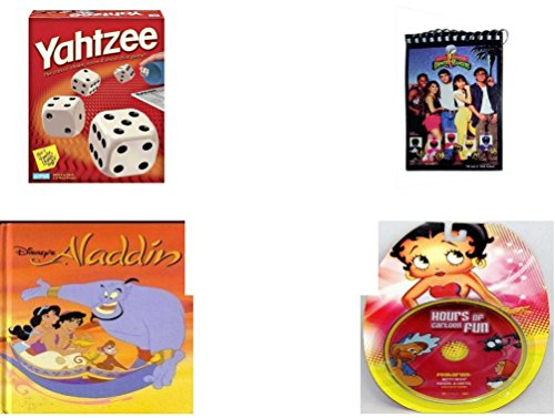 [Children's Gift Bundle - Ages 6-12 [5 Piece] - Yahtzee Game - 1993 Mighty Morphin Power Rangers Notepad - Sleeping Beauty Prince Philip Bean Bag Plush Toy 9