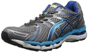 ASICS Women's Gel-Kayano 19 Running Shoe,Lightning/Turquoise/Iris,9 2A US