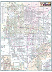 Greater Las Vegas Area Wall Map Gloss Laminated